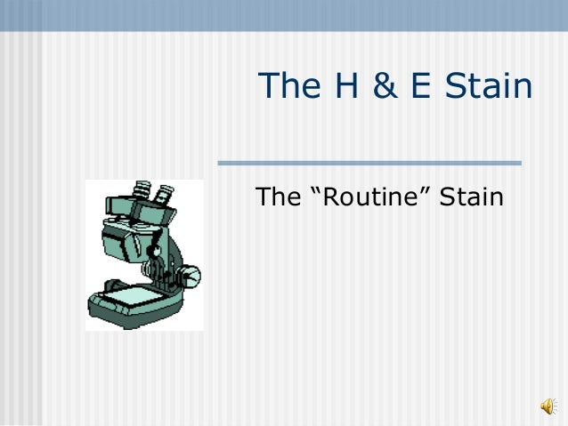 """The H & E Stain The """"Routine"""" Stain"""