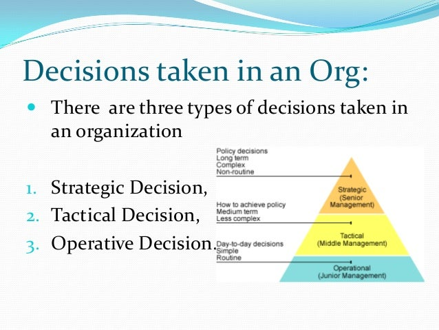 strategy decisions Corporate level strategy defines the future of the organization as a whole.