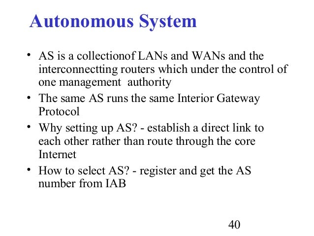 Routing for Exterior gateway protocol examples