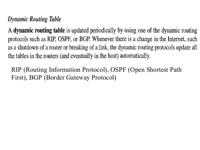 Distance Vector Routing: Sharing  • In distance vector routing, each node shares its routing table (with first two cols)  ...