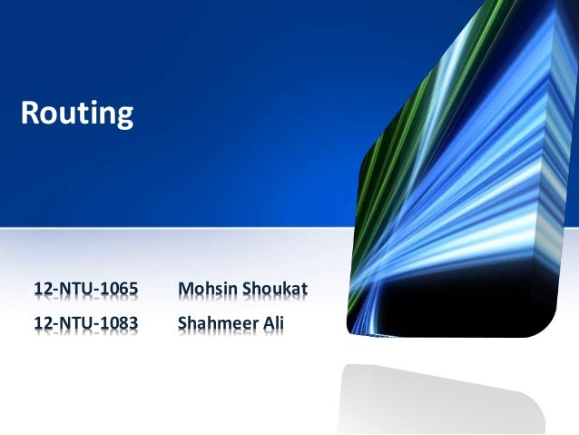 Routing 12-NTU-1065 Mohsin Shoukat 12-NTU-1083 Shahmeer Ali