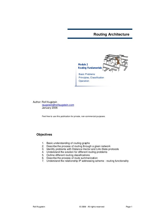 Routing Architecture                                                 Module 2                                             ...