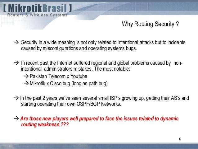 Routing security - Budapest 2011