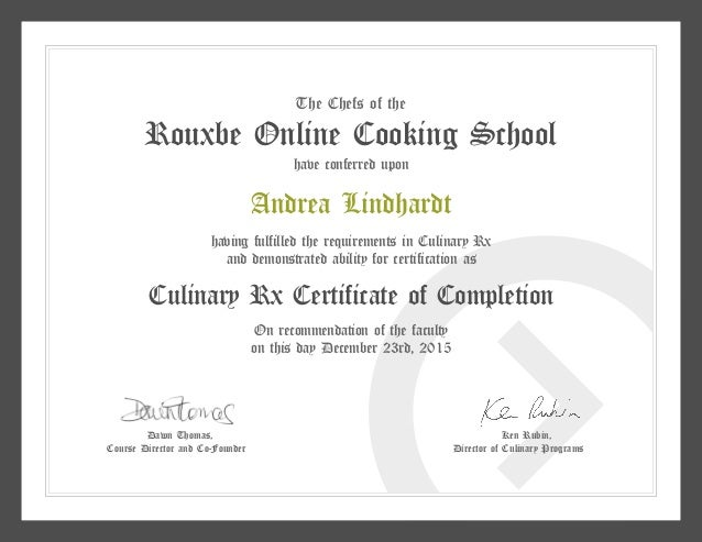 Rouxbe certificate