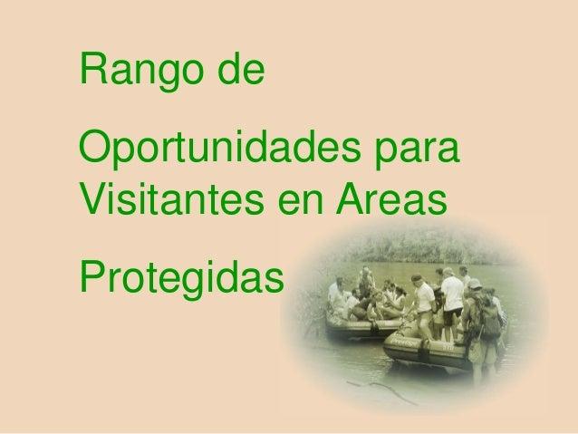 Rango de Oportunidades para Visitantes en Areas Protegidas