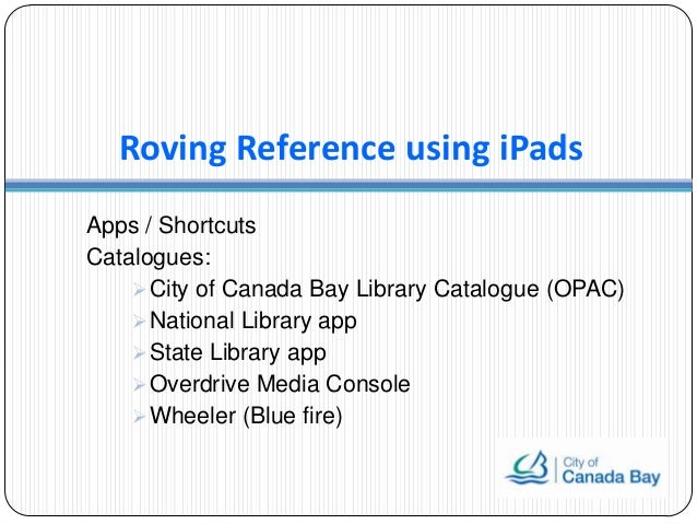 Roving reference using iPads by Samson Leung