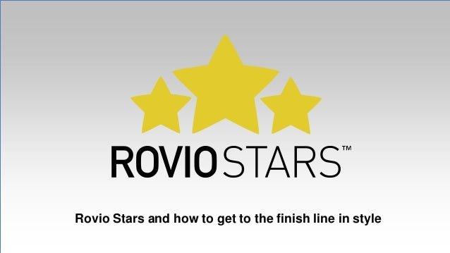 Rovio Stars and how to get to the finish line in style