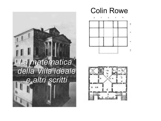 Colin Rowe La matematicaLa matematica della Villa idealedella Villa ideale e altri scrittie altri scritti