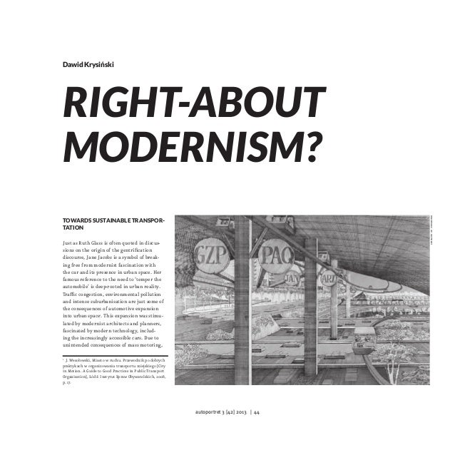 Dawid Krysiński  library of congress  Right-about Modernism? Towards Sustainable Transportation Just as Ruth Glass is ofte...
