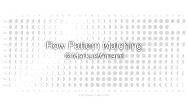 Row Pattern Matching @MarkusWinand Image: 72hoursamericanpower.com