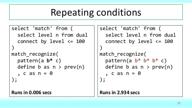 Row Pattern Matching in Oracle Database 12c