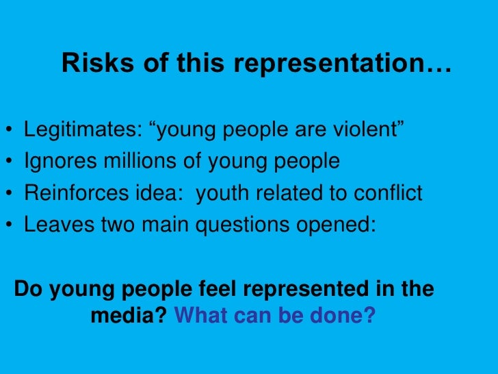 Representation of youth in media today