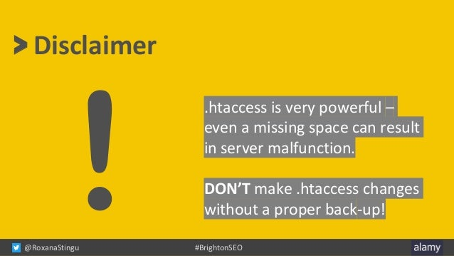 How I learned to stop worrying and love the .htaccess file Slide 3