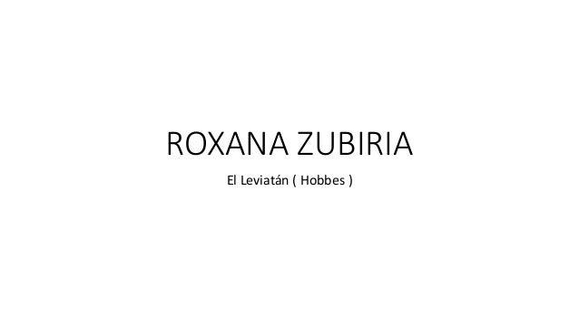 ROXANA ZUBIRIA El Leviatán ( Hobbes )