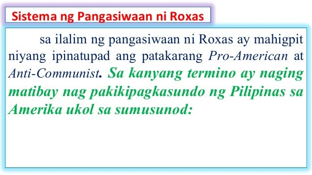 parity rights manuel roxas Parity rights granted us citizens and filipinos equal rights in regard to using the natural resources of the philippines these parity rights were created through.