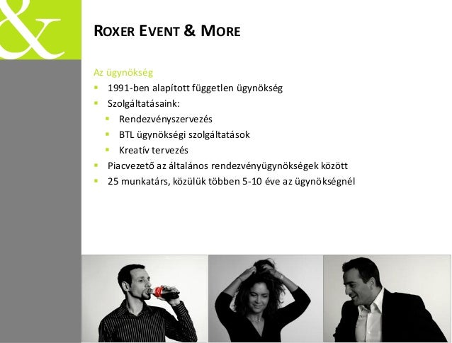 Roxer Event & More introduction Slide 2
