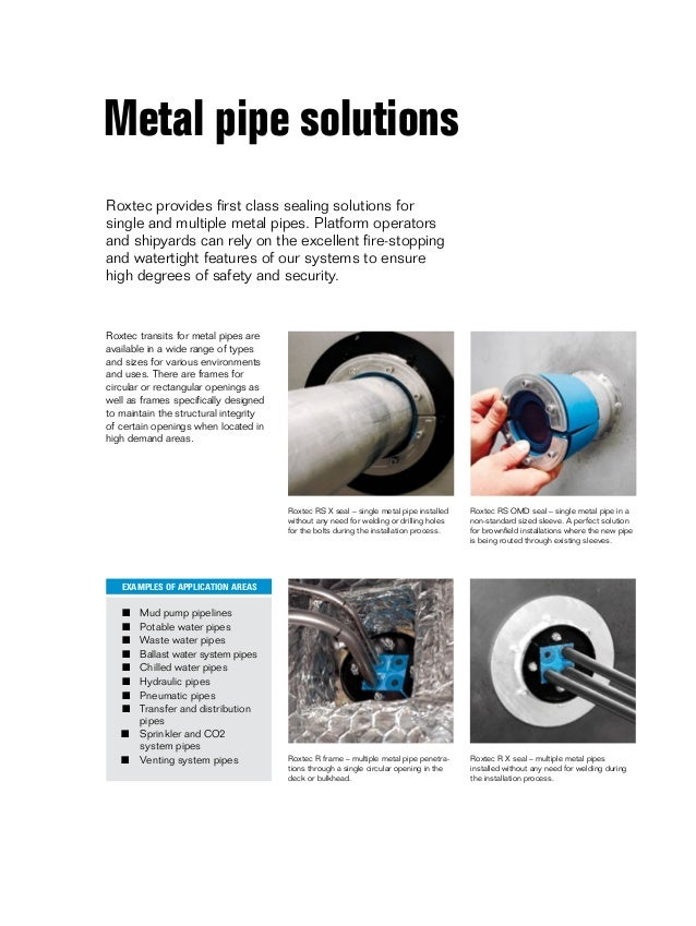 Roxtec Cable Amp Pipe Sealing Transits Offshore Oil Amp Gas