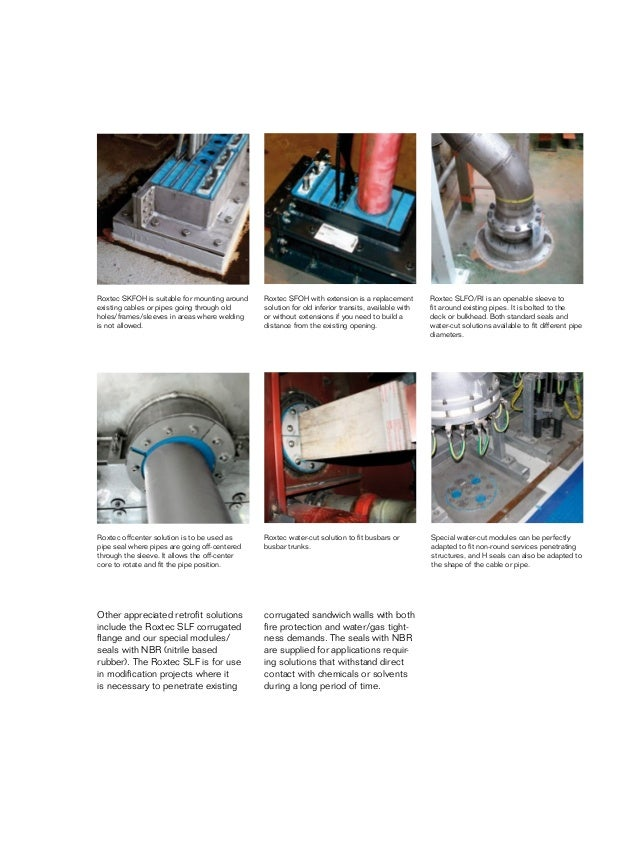 Roxtec Cable & Pipe Sealing Transits - Offshore Oil & Gas