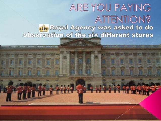 """Your Highness we, """"Royal Agency""""visited the following stores. Fordetails on observations andopportunities see Royal Agency..."""