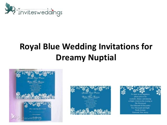 Royal Blue Wedding Invitations forDreamy Nuptial