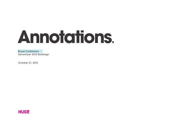 Annotations.Royal CaribbeanDecember 2010 RedesignOctober 21, 2010