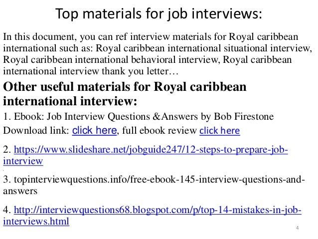 53 Royal caribbean international interview questions and answers pdf