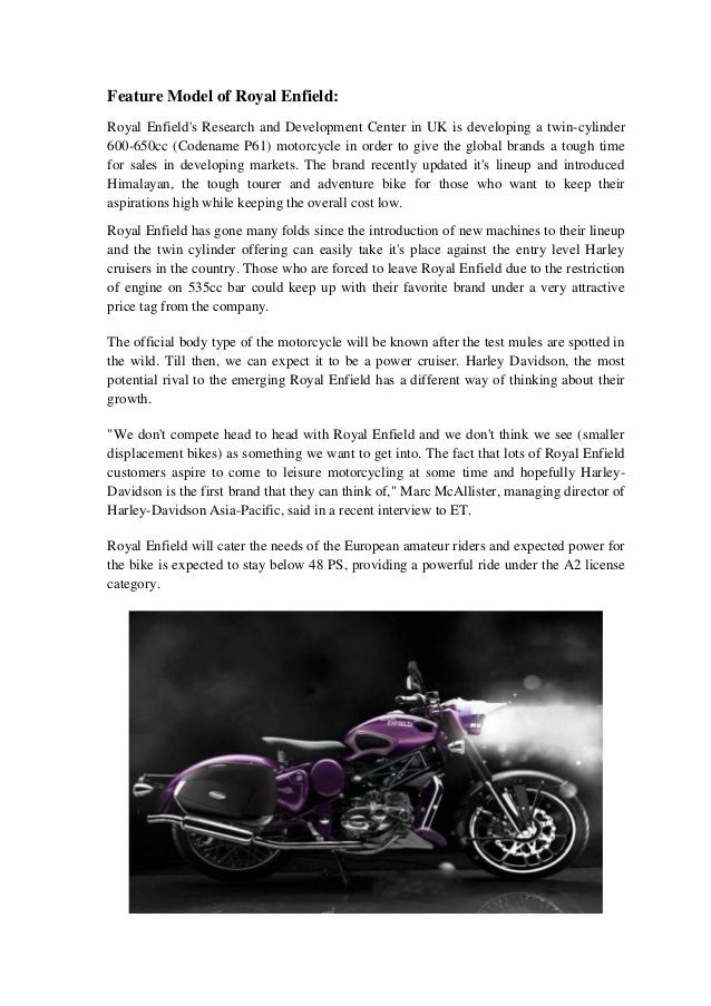 Royal Enfield project