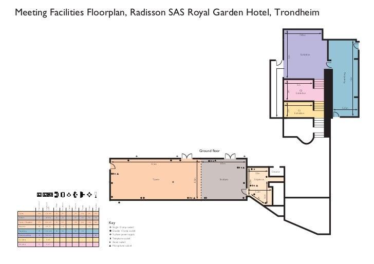 Meeting Facilities Floorplan, Radisson SAS Royal Garden Hotel, Trondheim                                                  ...