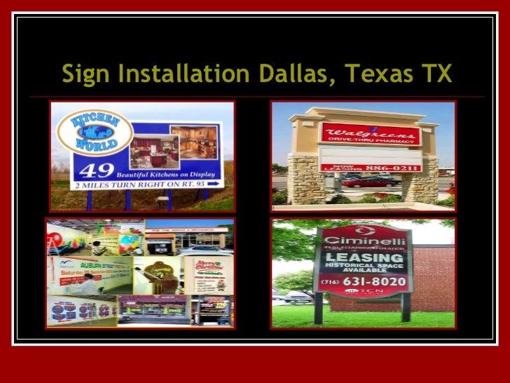 Sign Installation Dallas, Texas, TX, Wholesale signs ...