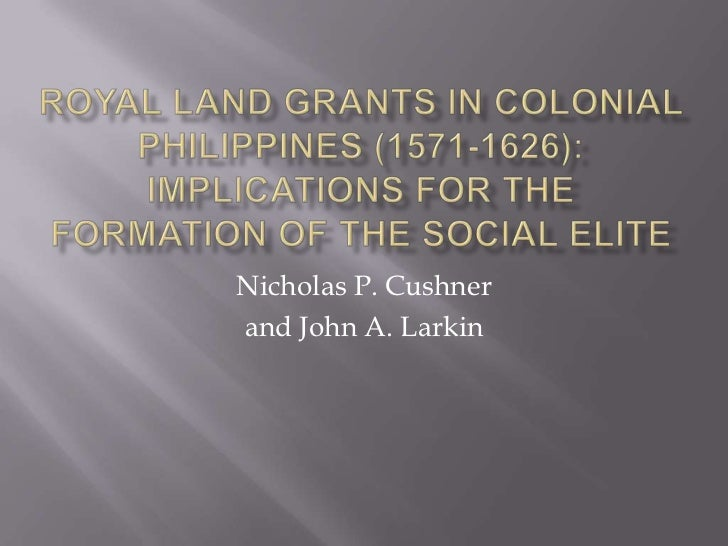 Nicholas P. Cushnerand John A. Larkin