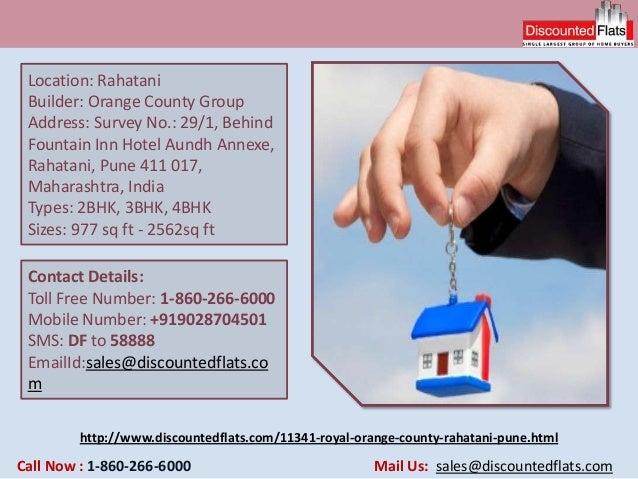 http://www.discountedflats.com/11341-royal-orange-county-rahatani-pune.html Location: Rahatani Builder: Orange County Grou...