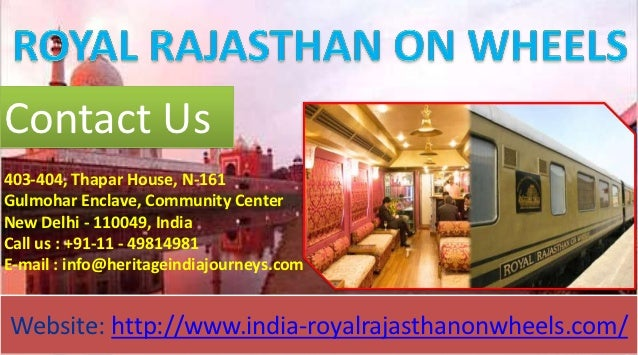 Royal Rajasthan on Wheels Train Itinerary with destinations