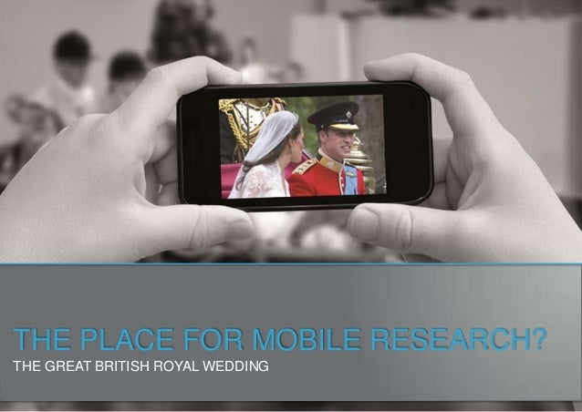 THE PLACE FOR MOBILE RESEARCH?THE GREAT BRITISH ROYAL WEDDING