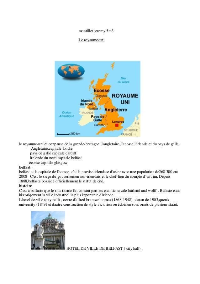 montillet jeremy 5m3                                      Le royaume-unile royaume-uni et conpause de la grende-bretagne ,...