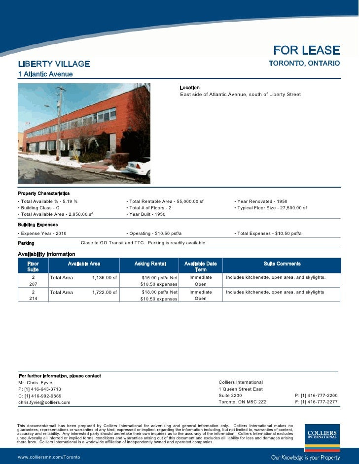 FOR LEASE LIBERTY VILLAGE                                                                                                 ...