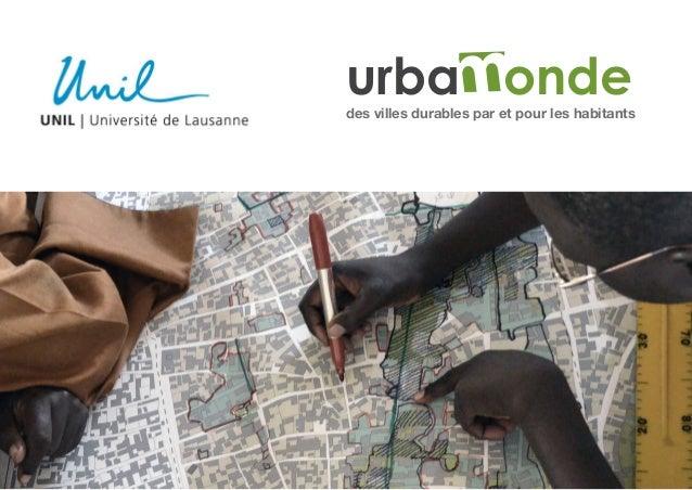 urbaMondedes villes durables par et pour les habitants