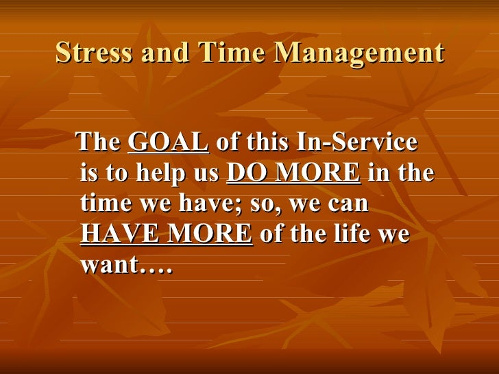 Roy Shaff (Author) - Stress and Time Management In-Service