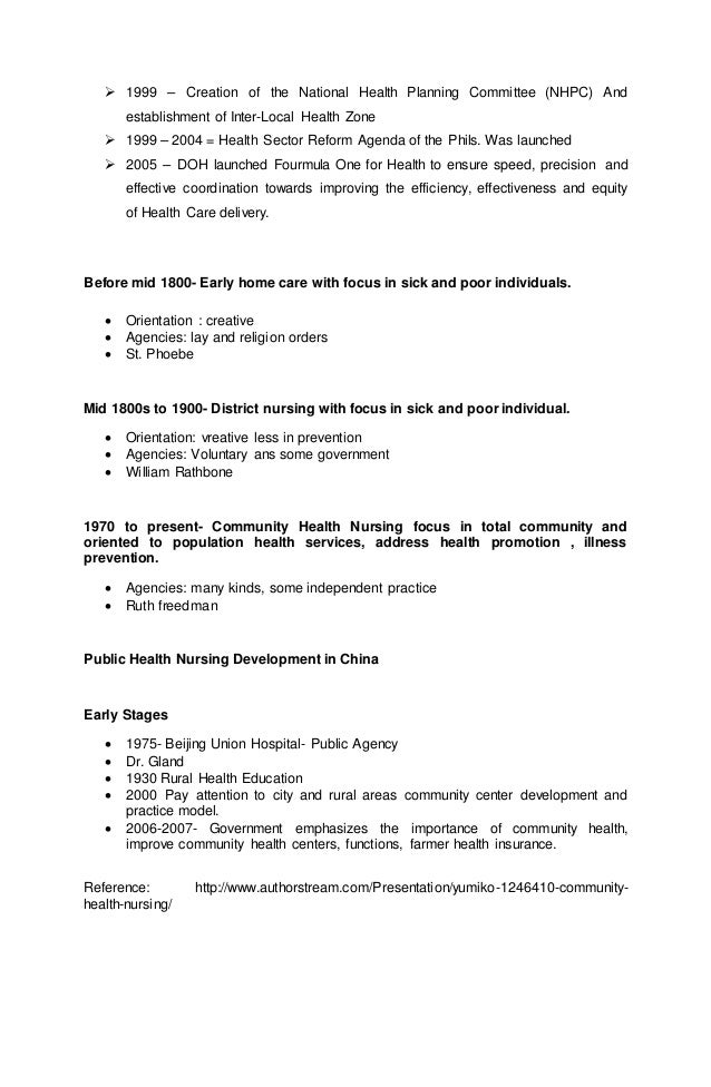 roles of the nurse in caring for communities and population groups