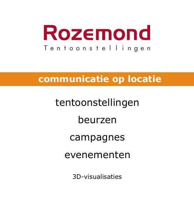 communicatie op locatie tentoonstellingen beurzen campagnes evenementen 3D-visualisaties