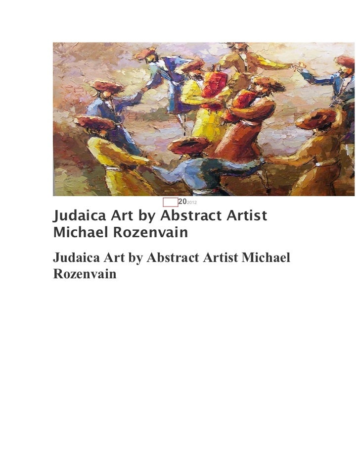AUG   202012Judaica Art by Abstract ArtistMichael RozenvainJudaica Art by Abstract Artist MichaelRozenvain