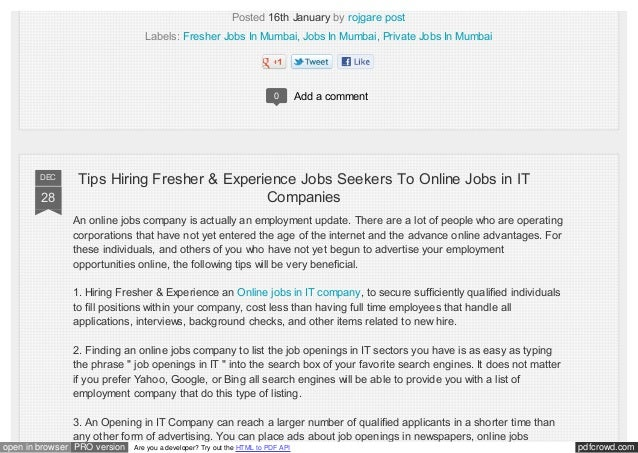 Private Jobs Opening In Faridabad For Freshers Amp Experience