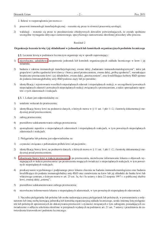Rozporządzenie Minzdrawu: leczenie_krwia Slide 2