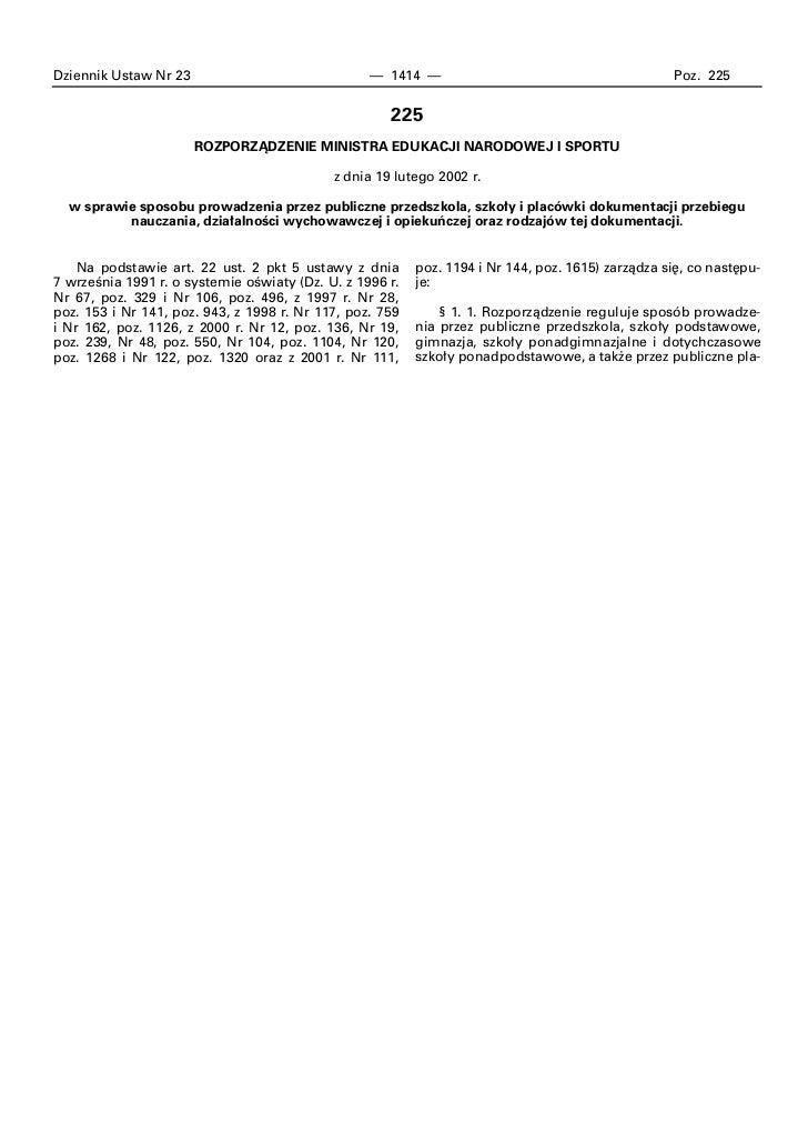 Dziennik Ustaw Nr 23                              — 1414 —                                         Poz. 225               ...