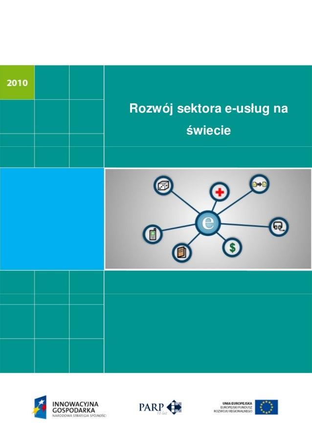 Rozwój sektora e-usług na wiecie
