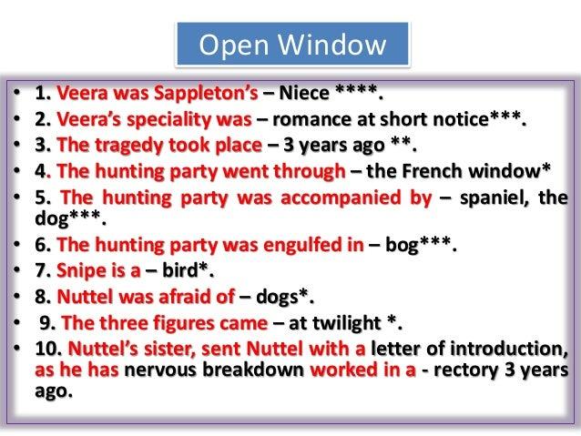 the open window essay