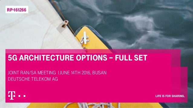 5G architecture options – full set Joint RAN/SA meeting |June 14th 2016, Busan Deutsche Telekom AG RP-161266