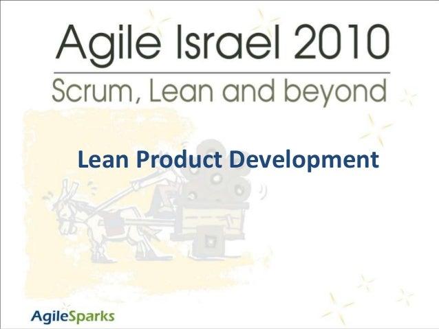 "י""ג/כסלו/תשע""ז1 Lean Product Development"