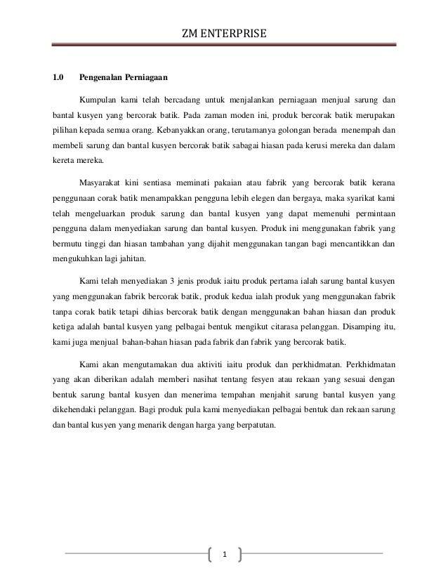 Contoh Kertas Kerja Rancangan Perniagaan Pdf Download