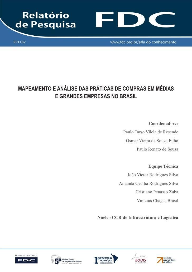 RP1102   Gestão Estratégica do Suprimento e o Impacto no           Desempenho das        Empresas Brasileiras  MAPEAMENTO ...