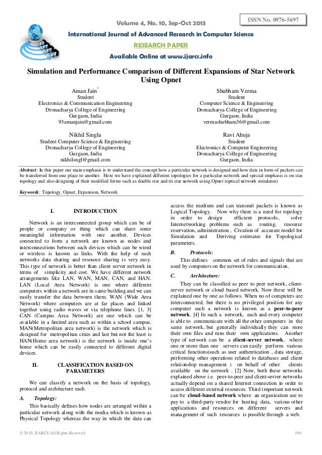 Volume 4, No. 10, Sep-Oct 2013  ISSN No. 0976-5697  International Journal of Advanced Research in Computer Science RESEARC...